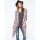 BILLABONG Live It Up Plaid Flannel Womens Wrap