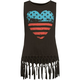 FULL TILT Heart Flag Girls Fringe Tank
