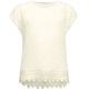 FULL TILT Hachi Knit Crochet Trim Girls Top