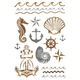 Anchor/Shell Metallic Tattoos