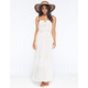 FULL TILT Crochet Flounce Maxi Dress