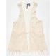 FULL TILT Crochet Fringe Girls Vest