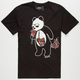 RIOT SOCIETY Panda Roses Mens T-Shirt