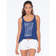 FULL TILT Arrow Flag Tulip Back Womens Crop Tank