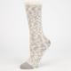 FULL TILT Womens Crochet Trim Marled Slub Crew Socks