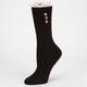 FULL TILT Button Crochet Womens Crew Socks