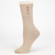 FULL TILT Button Crochet Womens Crew Socks