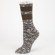 FULL TILT Marled Stripe Womens Crew Socks