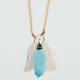 FULL TILT Metal Leaf Necklace