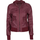FULL TILT Faux Leather Womens Hooded Jacket