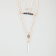 FULL TILT 4 Row Triangle Hamsa Layered Necklace