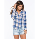 VANILLA STAR Plaid Womens Shirt