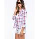 VANILLA STAR Plaid Womens Shirt