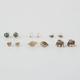 FULL TILT 6 Pairs Leaf/Boho Rhinestone Earrings