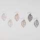 FULL TILT 3 Pairs Cut Out Leaves Earrings