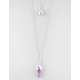 FULL TILT Crystal/Stone Moon 2 Row Necklace