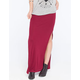 FULL TILT Side Slit Ribbed Maxi Skirt