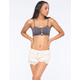 FULL TILT Lace Trim Button Bralette