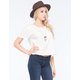VOLCOM Lived In Over Dye Crop Womens Tee