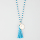 FULL TILT Beaded Tassel Necklace