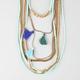 FULL TILT Suede/Tassel Layered Swag Necklace