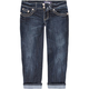 KARMA BLUE Womens Denim Capris