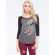 METAL MULISHA Bites The Dust Womens Raglan Tee