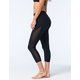 FULL TILT SPORT Mesh Womens Capri Leggings