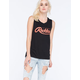 YOUNG & RECKLESS Big R Script Womens Muscle Tank