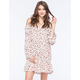 EN CREME Cold Shoulder Floral Dress