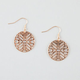 FULL TILT Cutout Tribal Disc Earrings