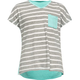 FULL TILT Two Tone Stripe Girls Pocket Tee