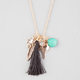 FULL TILT Tassel/Feather/Bird Cluster Necklace