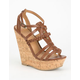DELICIOUS Spine Womens Gladiator Wedges