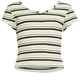 H.I.P. Stripe Ribbed Girls Tee