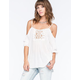 FULL TILT Cold Shoulder Womens Blouse