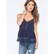 FULL TILT Embroidered Hem Womens Cami