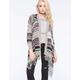 FULL TILT Striped Fringe Womens Wrap Sweater