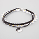 FULL TILT 3 Pack Yin Yang/Daisy/Braided Choker Necklaces