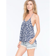 BLU PEPPER Lace Up Front Womens T-Back Tank