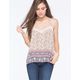 FULL TILT Gypsy Crochet Border Womens Cami