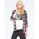 FULL TILT Womens Hooded Flannel Shirt