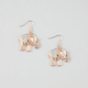 FULL TILT Etched Elephant Earrings