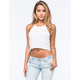 FULL TILT Crochet Sweater Womens Halter Top