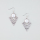 FULL TILT Etched Triangle Earrings