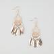FULL TILT Bead/Metal Feather Chandelier Earrings