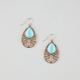 FULL TILT Filigree Turquoise Teardrop Earrings