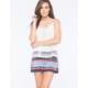 PATRONS OF PEACE Smocked Woven Womens Shorts