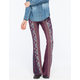 PATRONS OF PEACE Printed Womens Flare Pants