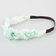 FULL TILT Chiffon Flower Crochet Headband